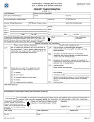 "CBP Form 28 ""Request for Information"""