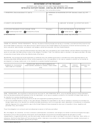 "TTB Form 5100.25 ""Specific Export Bond - Distilled Spirits or Wine"""