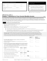 "Official Form 122A-1 ""Chapter 7 Statement of Your Current Monthly Income"""