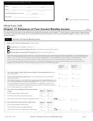 "Official Form 122B ""Chapter 11 Statement of Your Current Monthly Income"""