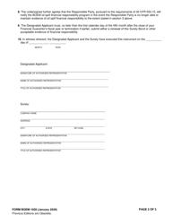 "Form BOEM-1020 ""Surety Bond"", Page 2"