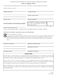 """Form 1 """"Notice of Appeal (Noa)"""""""