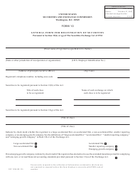 """Form 10 (SEC Form 1396) """"General Form for Registration of Securities Pursuant to Section 12(B) or (G) of the Securities Exchange Act of 1934"""""""
