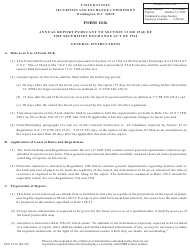 """Form 10-K (SEC Form 1673) """"Annual Report Pursuant to Section 13 or 15(D) of the Securities Exchange Act of 1934"""""""