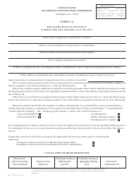 "Form S-4 (SEC Form 2077) ""Registration Statement Under the Securities Act of 1933"""