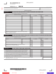 "Form PA-40 Schedule O ""Other Deductions"" - Pennsylvania, 2019"