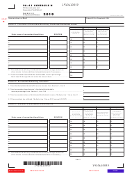 """Form PA-41 Schedule N """"Pa-Source Income and Nonresident Tax Withheld"""" - Pennsylvania, Page 2"""