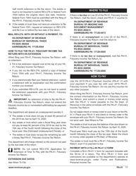 "Form PA-41 ""Pa Fiduciary Income Tax Return"" - Pennsylvania, Page 19"