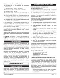 "Form PA-41 ""Pa Fiduciary Income Tax Return"" - Pennsylvania, Page 21"