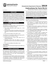 "Form PA-41 ""Pa Fiduciary Income Tax Return"" - Pennsylvania, Page 3"