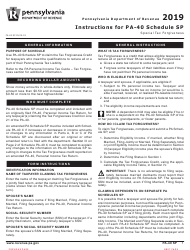 """Form PA-40 Schedule SP """"Special Tax Forgiveness"""" - Pennsylvania, Page 3"""