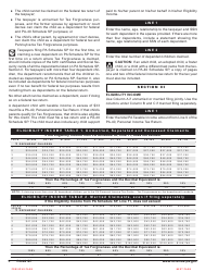 """Form PA-40 Schedule SP """"Special Tax Forgiveness"""" - Pennsylvania, Page 6"""