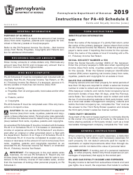 """Form PA-40 Schedule E """"Rents and Royalty Income (Loss)"""" - Pennsylvania, Page 3"""