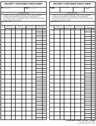 """Form SF-702 """"Security Container Check Sheet"""""""