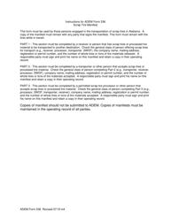 "ADEM Form 536 ""Scrap Tire Manifest"" - Alabama, Page 2"