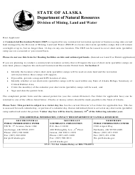 """Form 102-4040A """"Commercial Recreation Permit"""" - Alaska"""