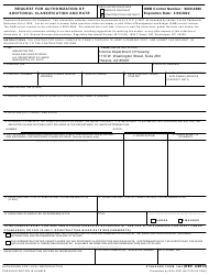 """Form SF1444 """"Request for Authorization of Additional Classification and Rate"""" - Arizona"""