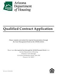 """Qualified Contract Application"" - Arizona"