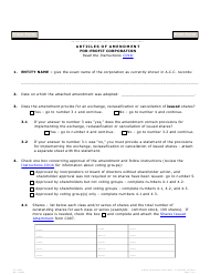 "Form C014.003 ""Articles of Amendment for-Profit Corporation"" - Arizona"