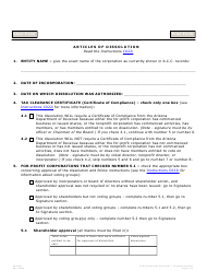 "Form C022.004 ""Articles of Dissolution"" - Arizona"