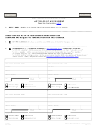 "Form L015 ""Articles of Amendment"" - Arizona"