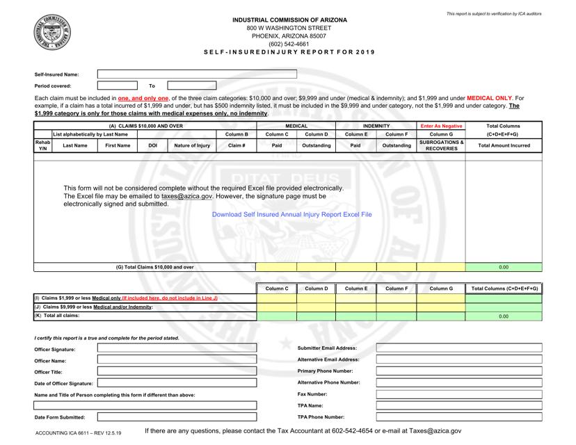 Form Accounting ICA6611 2019 Printable Pdf