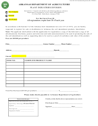 "Form 1081 ""Soil Registration"" - Arkansas"