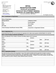 "Form CT-1 ""Initial Registration Form"" - California"