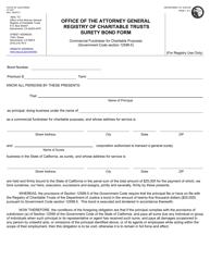 "Form CT-4CF ""Surety Bond Form"" - California"