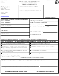 "Form CT-NRP-1 ""Nonprofit Raffle Registration Form"" - California"