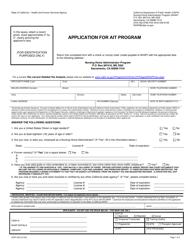 "Form CDPH502 ""Application for Ait Program"" - California"