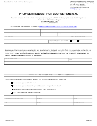 """Form CDPH519 """"Provider Request for Course Renewal"""" - California"""