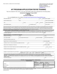 "Form CDPH526 ""Ait Program Application for Re-training"" - California"