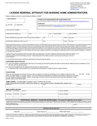 "Form CDPH512 ""License Renewal Affidavit for Nursing Home Administrators"" - California"