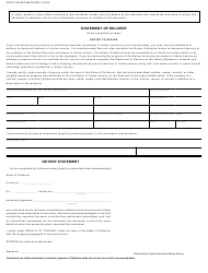 """Form CDTFA-146-RES """"Exemption Certificate and Statement of Delivery in Indian Country"""" - California, Page 2"""