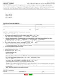 "Form CDTFA-65 ""Notice of Closeout"" - California"