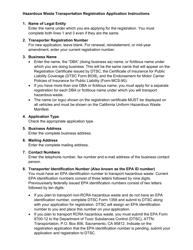 "DTSC Form 187 ""Hazardous Waste Transporter Registration Application"" - California, Page 3"