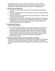 "DTSC Form 187 ""Hazardous Waste Transporter Registration Application"" - California, Page 4"