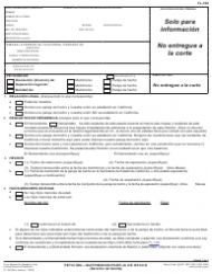 "Formulario FL-100 S ""Peticion - Matrimonio/Pareja De Hecho (Derecho De Familia)"" - California (Spanish)"