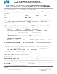 """2019 Novel Coronavirus (Covid-19) Case Report Form"" - Connecticut"