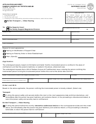 "Form JD-FM-201 ""Application and Writ, Habeas Corpus Ad Testificandum"" - Connecticut"