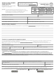 """Form JD-FM-206 """"Motion to Open Judgment (Family Matters)"""" - Connecticut"""