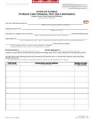 "DEP Form 62-761.900(3) Part A ""Storage Tank Financial Test (Self Insurance) (Letter From Chief Financial Officer)"" - Florida"