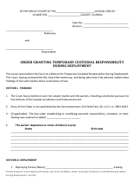 """Form 12.948(C) """"Order Granting Temporary Custodial Responsibility During Deployment"""" - Florida"""