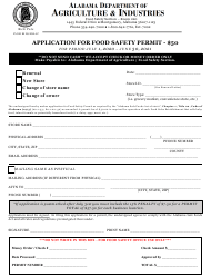 """Application for Food Safety Permit"" - Alabama, 2021"