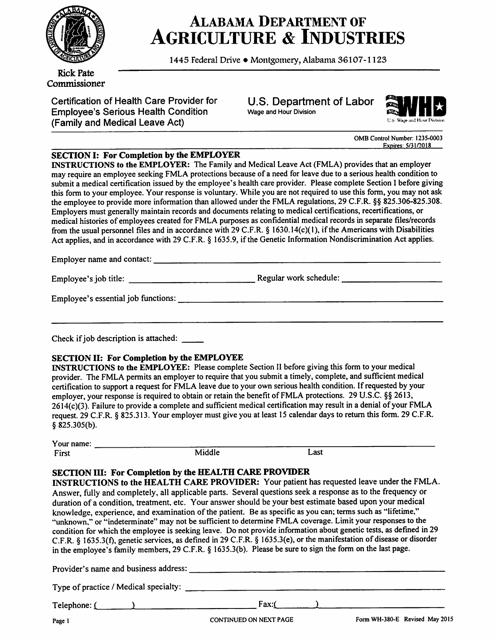 Form WH-380-E  Printable Pdf