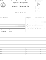 "Form BLT: STR-1 ""Severance Tax Registration"" - Alabama"