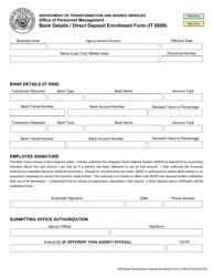 """Form IT009 """"Bank Details / Direct Deposit Enrollment Form"""" - Arkansas"""