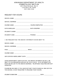 """""""Request for Hours"""" - Arkansas"""