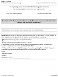 """Form DHCS6237 """"Request to Access Protected Health Information by Parent, Guardian or Personal Representative"""" - California, Page 4"""